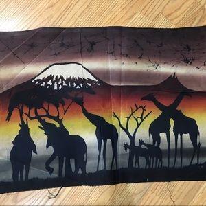 African Candle Wax Batik: Animals